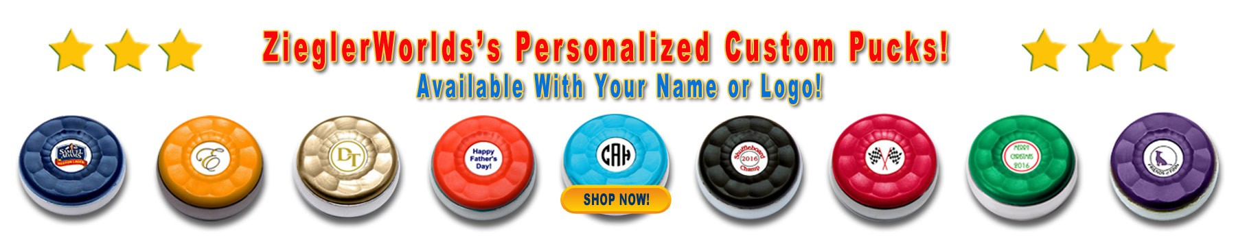ZieglerWorld Custom Table Shuffleboard Pucks