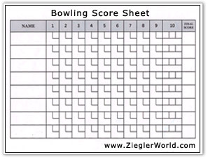 blank bowling score cards. Black Bedroom Furniture Sets. Home Design Ideas