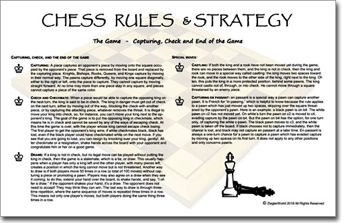 Chess Set Rules and Strategy