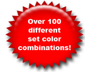 Over 100 color combinations
