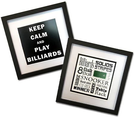 Keep Calm and Play Billiards and Billiards Word Art
