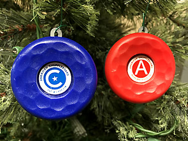 American Shuffleboard Holiday Ornament