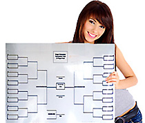 Erasable Tournament Brackets