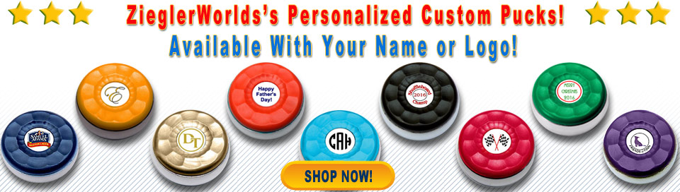 Personalized Custom Shuffleboard Pucks
