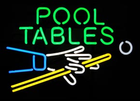 Neon Pool Table Sign