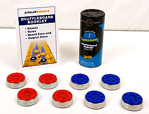Tournament Grade Large Size Shuffleboard Pucks